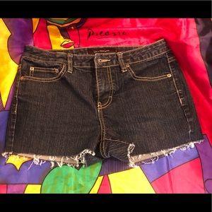 Calvin Klein cutoff cheeky denim shorts